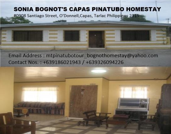 SONIA BOGNOT'S CAPAS PINATUBO HOMESTAY